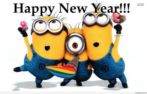 Glückliches neues Jahr, Happy New Year  minions.ch