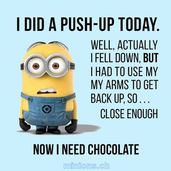 I did a pushup today ! Really !