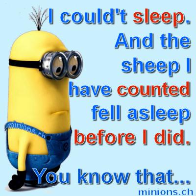 I coudn't sleep…