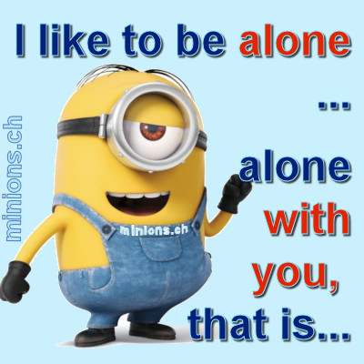 I want to be alone…